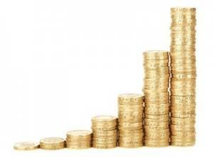 Monton de monedas ascendente
