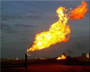 Tubería gas en llamas