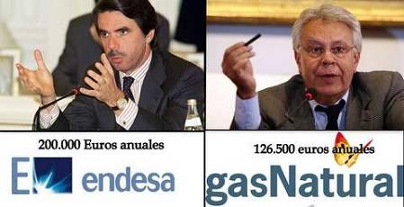 Jose María Aznar y Felipe González