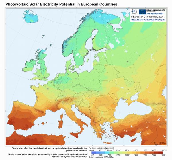 La situación de la Energía solar en España