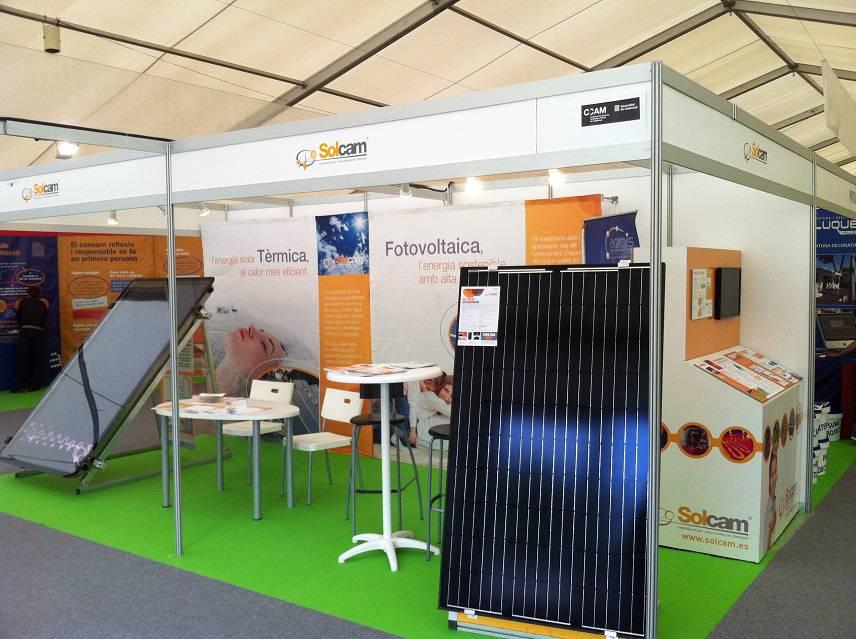 Nuestro Kit solar de Inyeccion Cero en la feria multisectorial de Cambrils