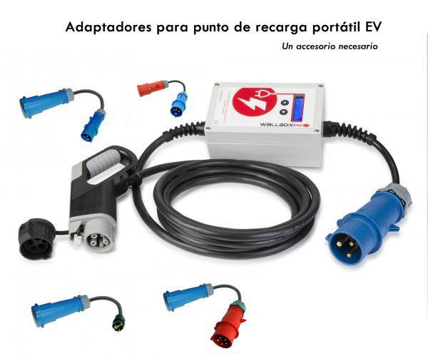Accesorios para cargador portátil: adaptadores EV