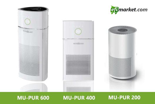 Diferentes modelos de purificadores de aire