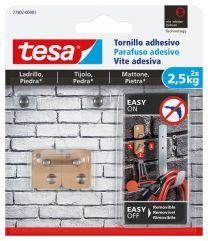 TESA Tornillo Adhesivo Rectangular Para Ladrillo y Piedra