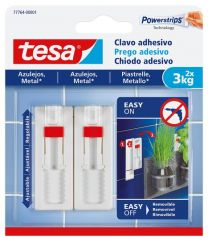 Tesa Clavo Adhesivo Ajustable Para Azulejos y Metal (3 kg)