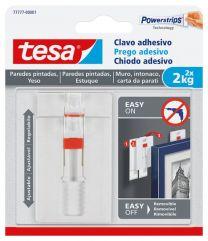 TESA Clavo adhesivo ajustable paraparedes pintadas y yeso (2 kg)