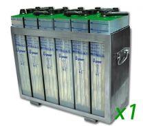 Bateria traslucida 15 años vida útil bateria solar estacionaria