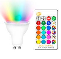 Bombilla LED Luxtar GU10 5W RGBW con Mando