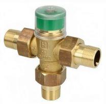 Válvula mezcladora termostática Honeywell TM200 para agua caliente (con Racores)