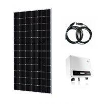Panel solar, cable conector e inversor