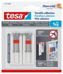 TESA Tornillo adhesivo ajustable para paredes pintadas y yeso 1 kg