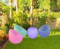 Kit Jardín: Mesita + butacas LED iluminación decorativa Lounge